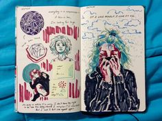 emilythesithlord: art journal p. 55 and 56