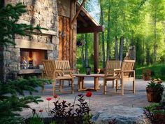 Browse pictures and get tips for designing your outdoor fireplace or fire pit on HGTV.com.