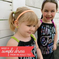 Simple Kid�s Dress {an adult t-shirt refashion tutorial} ~Great idea and so much fun!~