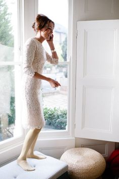 White Lace Bridesmaid dresses? Psh I want this just to wear when ever!