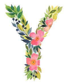 Watercolor alphabet Letter Y print Initial Y by TulipPoplarCo Alphabet Wallpaper, Name Wallpaper, Cute Wallpaper Backgrounds, Wallpapers, Alphabet Images, Alphabet Art, Letter Art, Painted Letters, Monogram Letters