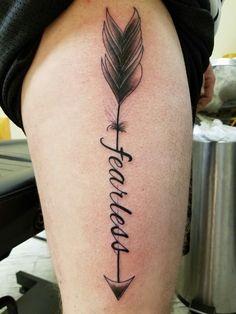 Fearless arrow tattoo.