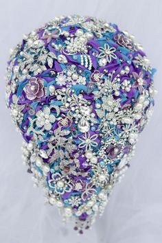 c83eb5ec9 Wedding Bouquet. Bridal Brooch Bouquet. Purple by LovettsBouquet ...