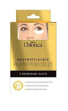 Rozświetlające płatki pod oczy L'biotica - kolagenowo-hydrożelowe płatki z drobinkami złota