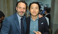 The Walking Dead Cast and Producers Invade Comic-Con With a Packed Panel and Signing 2013  -Andrew Lincoln with Steve Yeun #TheWalkingDead