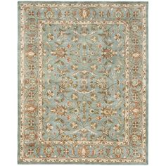 @Overstock - Handmade Heritage Nir Blue Wool Rug (4' x 6') - An intricate Oriental design and dense, thick pile highlight this handmade rug. This floor rug has a blue background and a blue border and displays stunning panel colors of green, rust, gold and ivory.  http://www.overstock.com/Home-Garden/Handmade-Heritage-Nir-Blue-Wool-Rug-4-x-6/6054874/product.html?CID=214117 $89.24