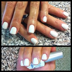 White polish always look pretty on short nails....