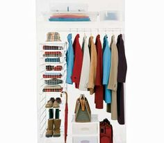 An orderly coat closet