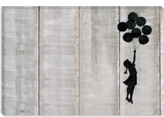 Flying Balloons Girl by Banksy  Giclee Poster