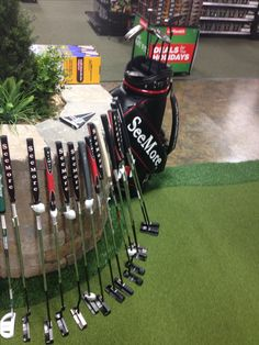 @golfsmith Brentwood, TN - great #seemoreSPi putter display #golf - great job by store staff!!