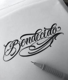 Tattoos And Body Art tattoo lettering Tattoo Writing Styles, Tattoo Lettering Styles, Graffiti Lettering Fonts, Chicano Lettering, Tattoo Script, Script Lettering, Tattoo Fonts, Name Tattoos, Body Art Tattoos