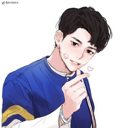 Find images and videos about boy, art and anime on We Heart It - the app to get lost in what you love. Manga Boy, Manga Anime, Anime Art, Anime Korea, Character Art, Character Design, Drawn Art, Ichimatsu, Kpop Fanart