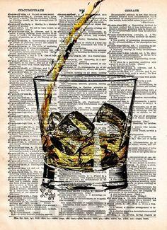 Whiskey splash art, Pour yourself some whiskey, man cave art, Bourbon splash art
