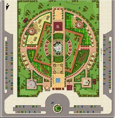 Site planning and landscape - Architektur Architecture Concept Diagram, Plans Architecture, Landscape Architecture Drawing, Landscape Design Plans, Garden Design Plans, Landscape Concept, Urban Landscape, Parking Plan, Site Plan Design
