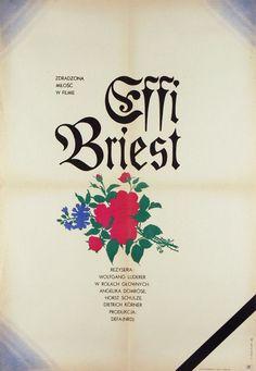 Jerzy Treutler, polish poster for Effi Briest by Rainer Werner Fassbinder, 1970