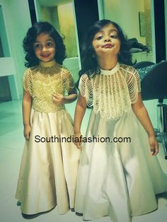 Ariana and Viviana Manchu in customised Koecsh gowns paired with beaded capes