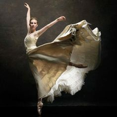 The beauty of fabric movement and a body in motion
