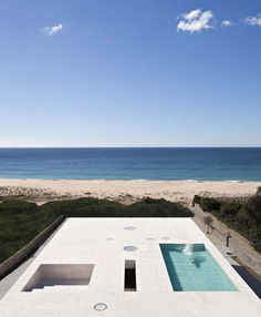 """House of the Infinite by Alberto Campo Baeza designed as """"a jetty facing out to sea""""."""
