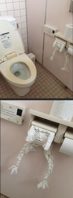 Someone was bored while using the toilet in Japan