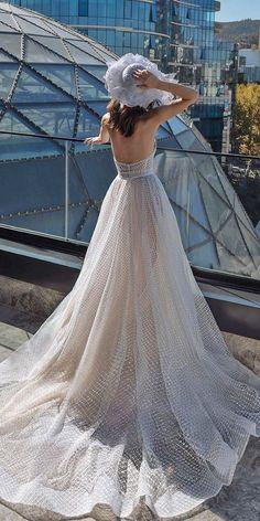A-Line Wedding Dresses 2020/2021 Collections Overview ❤  a line wedding dresses low back with train beach dimitius dalia #weddingforward #wedding #bride