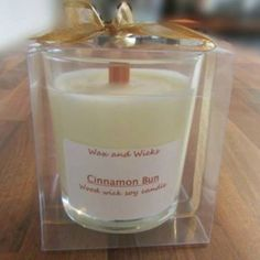 Wax and Wicks stopped by with more lovely candles today including the delicious 'cinnamon bun' with a wooden wick which gives a subtle crackle as it burns. Burn time approx 30 hours #Huddersfield #fbloggers