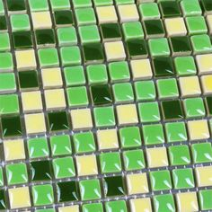 Collection: Porcelain Mosaic Tiles; Material: Porcelain; Shape: Square; Color: Beige and Green; Size: 305x 305 x 6.5 mm; Chip Size: 9.5 x 9.5 mmMosaic Tiles specializes in quality handcrafted porcelain mosaic tiles that add excitement to your pool, home, and outdoor area. They are composed of colored porcelain tiles of different shapes and sizes arranged to form lifelike images.Each sheet of the porcelain mosaic tile is approximately 1 sq ft per sheet and is mesh mounted for easy… Glass Tile Backsplash, Kitchen Wall Tiles, Glass Mosaic Tiles, Stone Mosaic, Kitchen Backsplash, Mosaic Art, Mosaic Tile Designs, Porcelain Tiles, Shapes