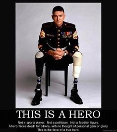 Hero <3   And not just the marines, because we all know I am partial to the Army simple because of my brother... All members who have served in the armed forces deserve the utmost respect and recognition. Sad that we lose sight of this in the midst of our every day lives.