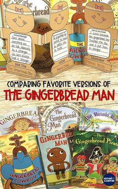 Comparing favorite versions of The Gingerbread Man: Lots of close reading lesson and anchor chart id Gingerbread Man Story, Gingerbread Man Activities, Christmas Activities, Winter Activities, Art Therapy Activities, Classroom Activities, Book Activities, Preschool Bulletin, Classroom Decor
