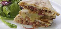 Turkey & Balsamic Onion Quesadillas Smart Points:9 | w w recipes