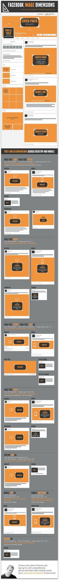 A quick guide to Facebook's new image dimensions [infographic]