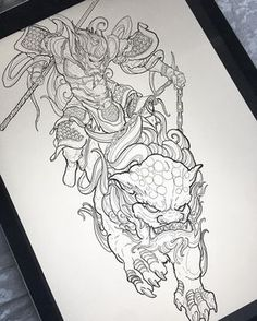 4,045 vind-ik-leuks, 80 reacties - chronic ink tattoos (@truong87) op Instagram: 'Work in progress! Monkey king riding foo dog leg sleeve! #irezumicollective #vancouvertattoo…'