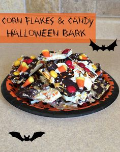 Oooo ~ this looks wonderful! Easy and Delicious: Corn Flakes and Candy Halloween Bark