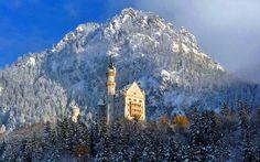 Il Castello di Neuschwanstein innevato a Natale