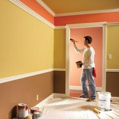 10 Tips for a Perfect Paint Job: Tip 1: Roll paint along the edges for consistent texture Tip 2: Prime and texture wall patches to avoid a blotchy appearance Tip 3: Cut the tape before pulling it Tip 4: To avoid lap marks, roll the full height of the wall Tip 5: Feather out the paint where you can't keep a wet edge. Tip 6: Use cotton drop clothes rather than plastic Tip 7: Sand trim between coats for an extra smooth finish Tip 8: Mix cans of paint for consistent color Tip 9: Clean dirty…