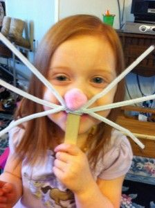 "Easy Easter Crafts for Kids-perfect for imaginative play and the ""hopping"" works for gross motor :)"