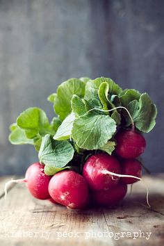 Radishes  4x6 Notecard by KimPeckPhotography on Etsy.