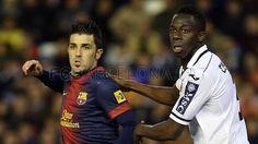 David Villa, FC Barcelona.   Valencia 1-1 FC Barcelona. 2013-02-03.
