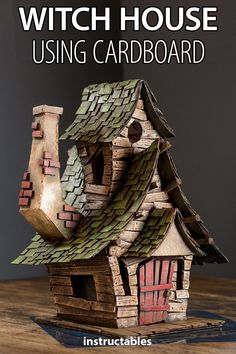 Craft a spooky and detailed witch house using cardboard. & Craft a spooky and detailed witch house using cardboard. The post Craft a spooky and detailed witch house using cardboard. & appeared first on Craft Ideas. Fun Diy Crafts, Diy Craft Projects, Arts And Crafts, Craft Ideas, Decor Crafts, Decor Ideas, Putz Houses, Fairy Houses, Doll Houses