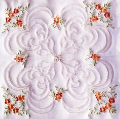 APRICOT FLOWER FINESSE - Enigma Embroidery | OregonPatchWorks