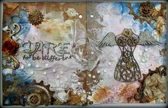 """Donna Salazar Designs: """"Dare to be Different"""" Journal Pages by ~ Misty Russell; June 2015"""