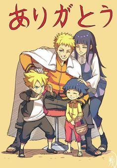 Family: Naruto,  Hinata,  Bruno & Himawari