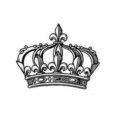 Traditionelle Krone Tattoo