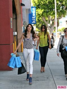 Kendall and Kylie Jenner Shop at Kitson