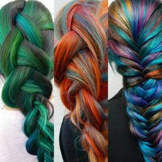 Pinned for color reference. Pastel Rainbow Hair, Pastel Hair, Colorful Hair, Pretty Hair Color, Hair Secrets, Hair Reference, Great Hair, Awesome Hair, Fantasy Hair