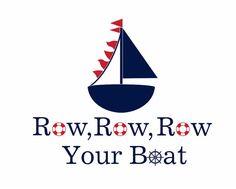 "Row Row Row Your Boat Vinyl Wall Decal - Nautical Sailboat Vinyl Wall Decal for Boy Baby Nursery or Room 22""H x 28""W Wall Art FS134. $42.00, via Etsy."