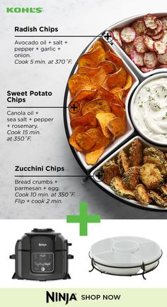 Eat healthy with the Ninja Foodi from Kohl's. This meal prep essential makes delicious veggie chips easily. Try it with radishes, sweet potatoes, zucchinis and other vegetables. Kohl's is here to help. Healthy Snacks, Healthy Eating, Healthy Recipes, Diet Recipes, Ketogenic Diet Meal Plan, Paleo Diet, Clean Eating, Veggie Chips, Bucket Lists