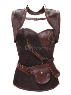d591f60bed Waist Trainer Corsets Overbust Steampunk Style Steel Boned Corsets With  Thong  Corsets