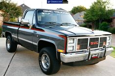 1987 GMC half ton short bed 4x4 pickup This is what I would like to restore first