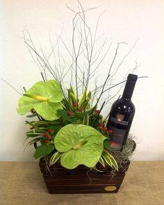 canastas de flores y vino - Buscar con Google