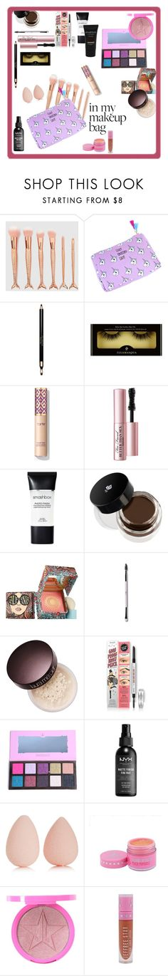 """Unicorn makeup bag"" by tattooedmum on Polyvore featuring beauty, Clarins, Too Faced Cosmetics, Smashbox, Lancôme, Benefit, Laura Mercier, NYX and beautyblender"